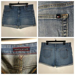 Tommy Hilfiger 14 Denim Jean Shorts Blue